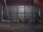Déplacement d'une cloison étanche