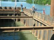 Béton immergé Pont François Mitterand à Macon