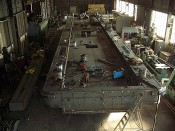 Construction de barges de dragage