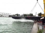Construction de barges de dragage