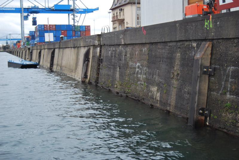Réfection de murs de quai